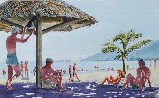 Carribean Beach Painting - Fine Art Prints