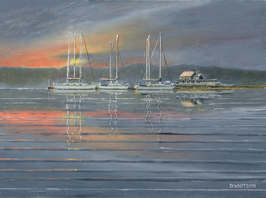 Dawn At The Folly Inn Isle of Wight - Art Prints