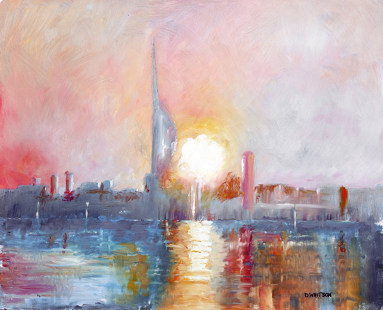 Dawn at Portsmouth Harbour - Art Prints and Painting For Sale