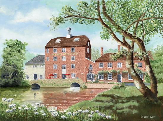 Elstead Mill Surrey Oil Painting - Art Prints