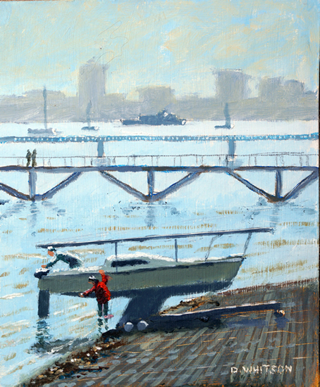 Foreshore at Hardway Sailing Club Gosport - Art Prints and Painting For Sale