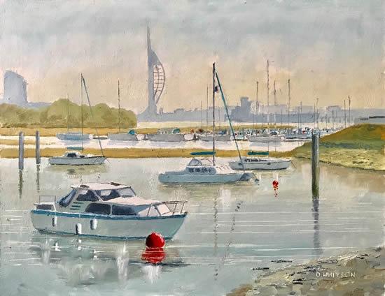 Forton Lake Portsmouth Harbour Hampshire