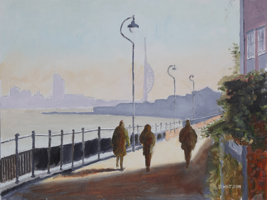 Harbourside Walk- Hardway Art - Portsmouth Harbour Hampshire