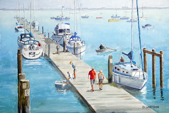 Hardway Sailing Club Painting - Portsmouth Hampshire Art Gallery