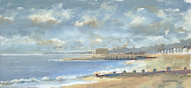 Hillhead Beach Towards Sailing Club - Art Prints and Painting