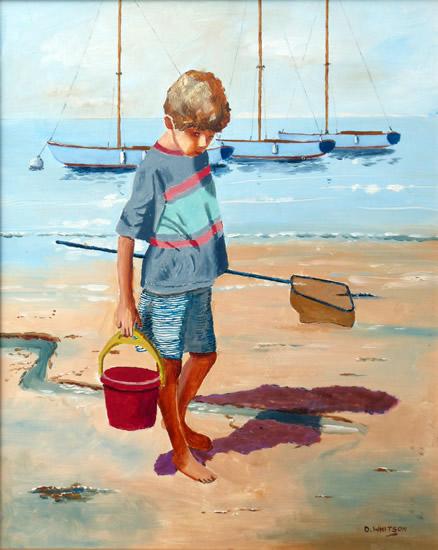 James on the beach at Bembridge