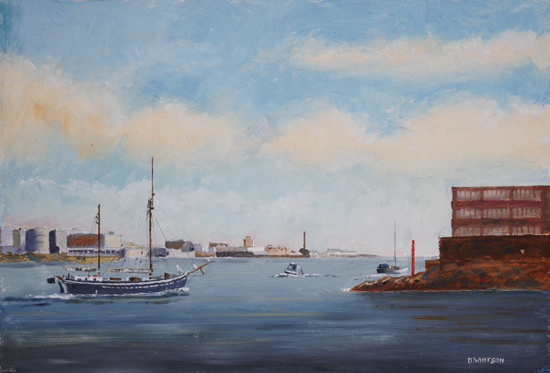 Ketch Queen Galadriel Leaving Portsmouth - Art Prints and Painting