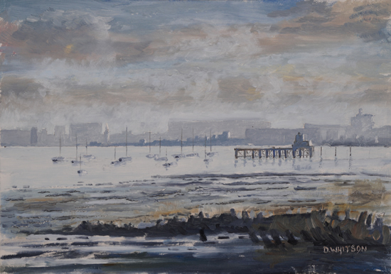 Low Water at Hardway Portsmouth Harbour - Art Prints