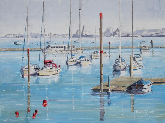 Moored Boats - Forton Lake Gosport Hampshire Art Prints