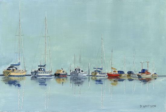 Moored Boats Medina Painting Art Prints