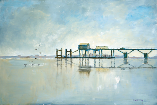 Old Jetty at Hardway - Art Prints and Painting For Sale