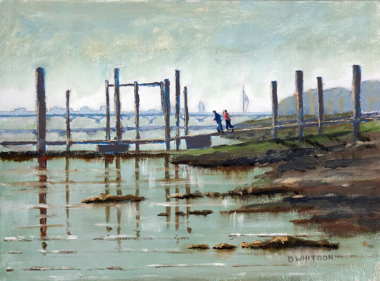 Pontoon at Hardway Sailing Club Portsmouth Harbour - Art Prints and Painting For Sale