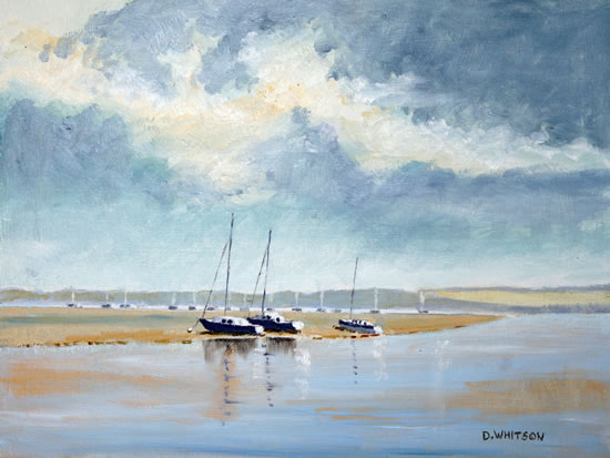Portsmouth Harbour Towards Porchester - Art Prints and Painting For Sale