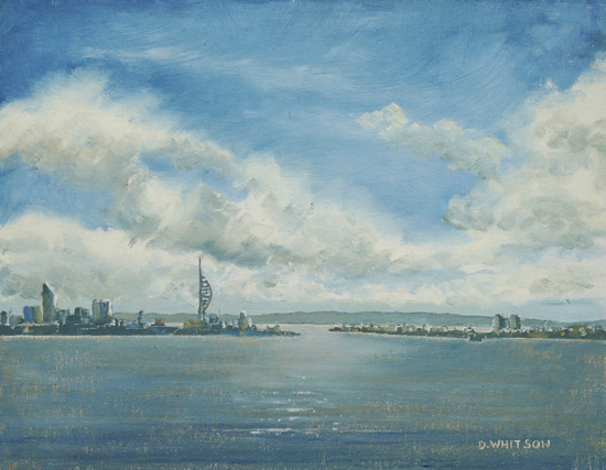 Portsmouth from Porchester Castle - Art Prints and Painting