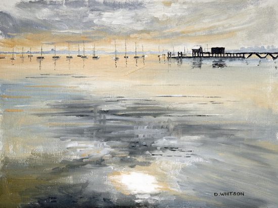 Sky Reflections Portsmouth Harbour - Art Prints and Painting For Sale