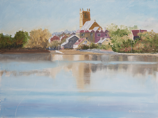 St Marys Church from Stoke Lake - Art Prints and Painting For Sale