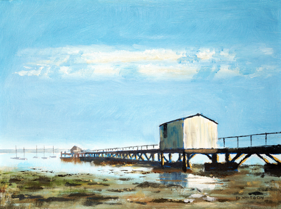 Sultans Jetty Hardway Gosport - High Summer - Art Prints and Painting For Sale
