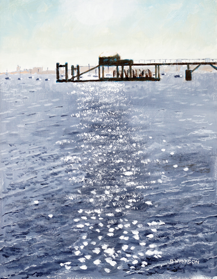 Sultans Jetty Portsmouth Harbour - Art Prints and Painting For Sale