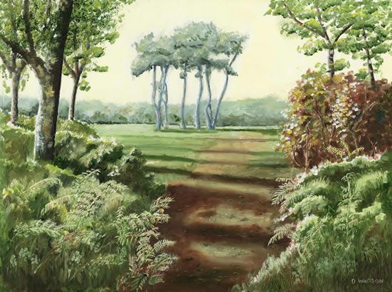 Trees Hindhead Surrey Painting