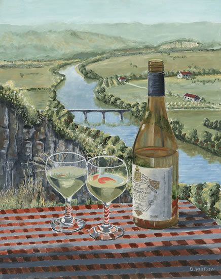 Vin de Pays France Vineyards and Wine - Painting and Art Prints