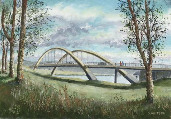 Walton on Thames Surrey Bridge - Painting and Art Prints