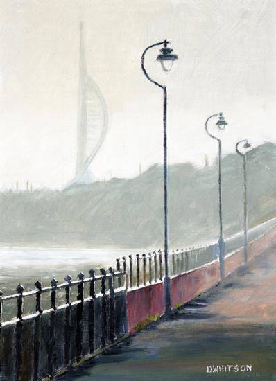 Winter Morning Portsmouth Harbour - Art Prints and Oil Painting For Sale