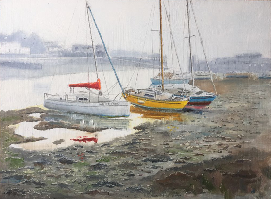 Winter Morning Titchfield Haven Painting
