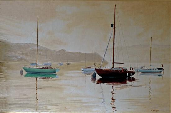Yachts at Salcombe Devon Art Gallery