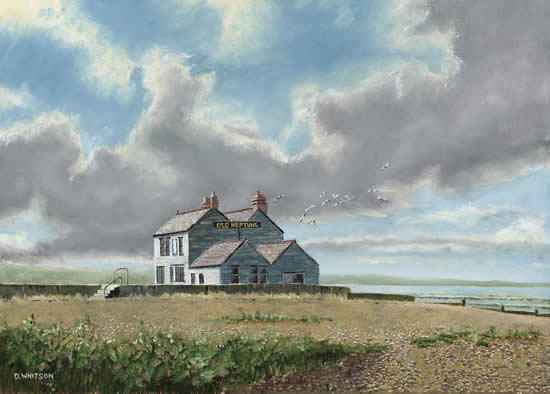 Old Neptune pub Whitstable Kent painting